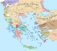 The southern Balkans after Treaty of Gallipoli in where the Ottomans ceded lands to the Byzantines for peace during the Ottoman Interregnum Century, Anatolia, Ottomans, Turkey) European History, World History, Historical Maps, Ottoman Empire, Military History, Rugs On Carpet, Planer, Albania, Byzantine Empire Map