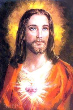 Pintura impresionista del Sagrado corazón de Jesús