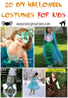 20 DIY Halloween Costumes For Kids - best to get started now so you'll have them done in time!