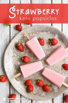 Paleo Strawberry Keto Popsicles Recipe plus 24 more of the best Paleo popsicle recipes