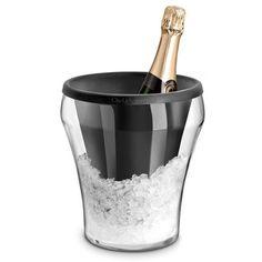 Seau à champagne en verre + poche en silicone D.26.5cm DRY COOL                                                                                                                                                                                 Plus