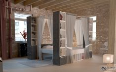 Beautiful modern canopy bed design.