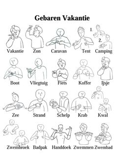 VAKANTIE Learn Dutch, Sign Language, Van Life, Teaching, Words, Languages, Children, Art, Kids