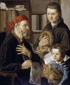 Stap, Jan Woutersz. -- Het kantoor van de rentmeester, 1636