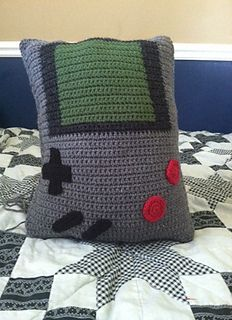 Gameboy Color Pillow - Free crochet pattern by Stacy Mathieson