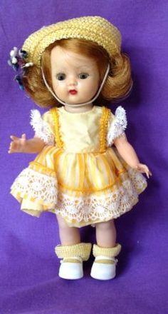 "Vintage Nancy Ann Storybook Strung Muffie Walker Doll (8"" Hard Plastic)"