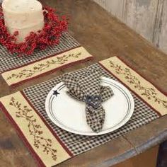 Country Kitchen Accessories | Berry Cloth Placemat