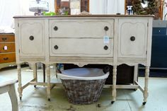Antique Buffet Hand Painted