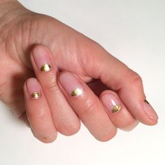 16 PERFECT Ideas For Your Next Manicure #refinery29 http://www.refinery29.com/nail-art-inspiration-instagram#slide15 Sometimes, simple really is best. And, this design by SoHotRightNail — a gold half-moon over a clear matte polish — is proof. (And, another easy one to DIY.)