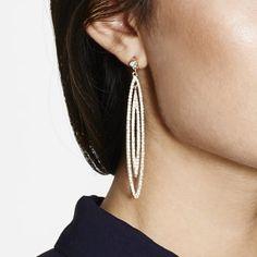 MOOD By Jon Richard Gold crystal pave double loop drop earring - MOOD By Jon Richard from Jon Richard UK