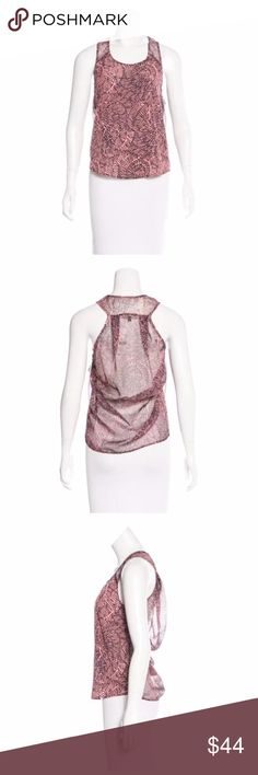 """Timo Weiland Abstract Print Sleeveless Top W/ Tags Pink and brown Timo Weiland sleeveless top with abstract print throughout. Bust: 32"""" Waist: 32"""" Length: 24"""" Retail: $194.00 Condition: Pristine Fabric: 100% Polyester Designer: Timo Weiland Timo Weiland Tops"""