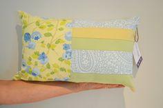 Decorative Patchwork Lumbar Pillow One-of-a-Kind by VanDijkDesigns Lumbar Pillow, Throw Pillows, Envelope Art, Cottage Decorating, Art N Craft, Envelopes, Fabric Design, Decorative Pillows, Sewing