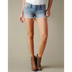 True Religion Brand Jeans Clear Crystal Kiera Cut Off Shorts ($198)