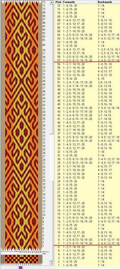 20 tarjetas, 4 colores, repite cada 50 movimientos // sed_480 diseñado en GTT༺❁