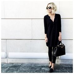 A Shirtdress, Pants and Loafers