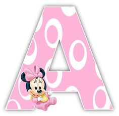 Right click and save as, each letter you want (site is in spanish) Festa Mickey Baby, Minnie Y Mickey Mouse, Minnie Mouse Theme Party, Minnie Mouse 1st Birthday, Minnie Mouse Baby Shower, Mouse Parties, Minnie Png, Scrapbook Letters, Baby Scrapbook