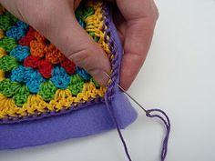 TUTORIAL: Fleece-backed Crochet Cushion Covers