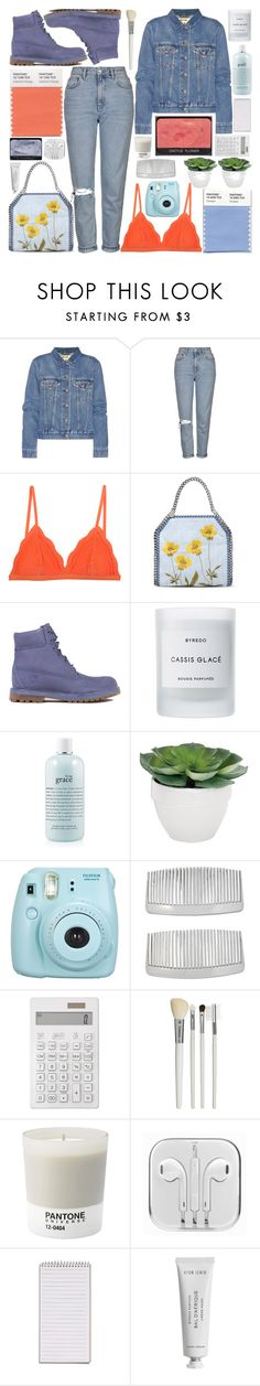 """Untitled #479"" by inkcoherent ❤ liked on Polyvore featuring Acne Studios, Topshop, Cosabella, STELLA McCARTNEY, Timberland, Byredo, NARS Cosmetics, philosophy, Torre & Tagus and Fujifilm"
