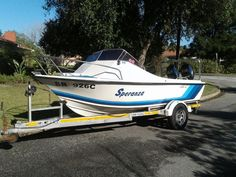 Engines serviced by El Shadai last week. Boat is very clean in mint condition. Serious buyers only, lots of extras. Price is not neg. All safety equip up to… Cabin Boats For Sale, Skis For Sale, Hunters Cabin, Cabin Loft, Gumtree South Africa, Cabin Plans, Jet Ski, Dolphins, Sun Lounger