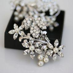 Wedding Shoe Clips  Pearl Rhinestone Shoe Clips by LuluSplendor, $89.00