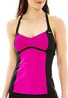 Nike Color Pulse Racerback Tankini Swim Top