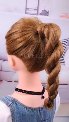 We will prove you that it is possible to create cute hairstyles for medium length hair. It is true that some hairstyles are more flattering for long hair. High Ponytail Hairstyles, Square Face Hairstyles, High Ponytails, Cute Hairstyles, Next Day Hair, Hair To One Side, Straight Across Bangs, Waterfall Braid Tutorial, Honey Balayage