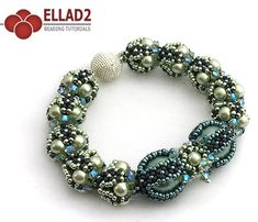 Noelle Bracelet is a gorgeous, sparkly and elegant. Beading Tutorial are very detailed, easy to follow, step by step, with clear color photos of each step.