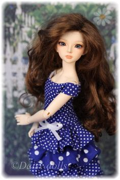 Polka dot dress for Fairyland MiniFee Mirwen  #fairyland #bjd #swishandswirl