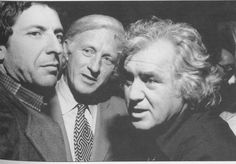 Leonard Cohen, Jack McClelland, and Irving Layton.