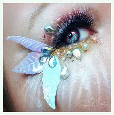 Creative Eye Make-Up by Pixiecold Rave Makeup, Sfx Makeup, Costume Makeup, Makeup Lips, Fairy Makeup, Mermaid Makeup, Make Up Art, Eye Make Up, Fantasy Make Up