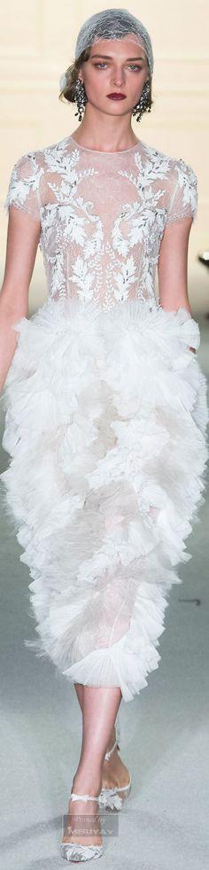 The Marchesa Fall 2015 Fashion Show - vogue Marchesa, Fashion Week, Fashion Show, Fashion Design, Couture Fashion, Runway Fashion, Models, White Fashion, Beautiful Gowns
