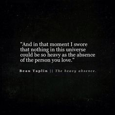 The Heavy Absence