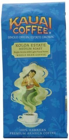 Kauai Coffee Medium Roast Whole Bean 10 oz Bag - http://teacoffeestore.com/kauai-coffee-medium-roast-whole-bean-10-oz-bag/