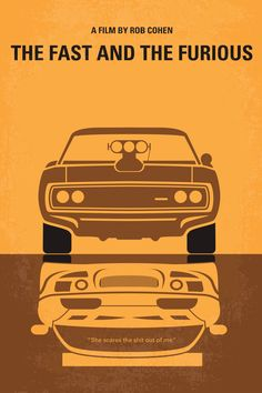 The Fast And The Furious Minimal Movie Poster by Chungkong