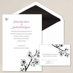 Cherry Blossoms Wedding Invitation | Floral Wedding Invitations