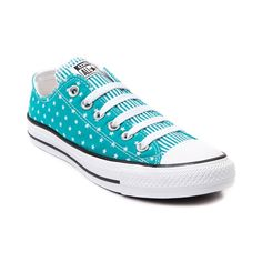 Shop for Womens Converse All Star Lo Stars Sneaker in Teal at Journeys Shoes. Shop today for the hottest brands in mens shoes and womens shoes at Journeys.com.Reach for the stars, and grab a pair of these dreamy star print Converse low tops! This Converse All Star Lo features a teal stars print canvas upper, striped tongue, lace closure, and durable rubber Converse sole. Available only online at Journeys.com and SHIbyJourneys.com! Available for shipment in June; pre-order yours today!