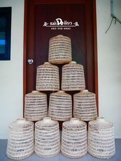 #โคมไฟไม้ไผ่ #สุ่มสานโคมไฟ #โคมไฟซาฮ้อ #ไม้ไผ่สาน #โคมไฟจักสาน #ตกแต่งร้านอาหาร #อาหารไทย #bamboolight #bamboolampshade #bamboolamp #hanginglight #ethniclight #thaithai #bamboo #rattan #weave #wovenbamboo #hangingbamboo #homeideas #lightingideas #homedesign Bamboo Lamp, Basket, Baskets, Hamper