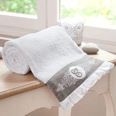 Toalla de tocador blanca de algodón 30 × 50 cm COLLECTION C