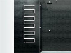 Hot-water towel warmer SNAKE_ONE Design Collection by SCIROCCO H   design Bruna Rapisarda, Lucarelli-Rapisarda