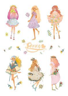 Sweet girl on behance character design girl, character art, character illustration, illustration art Character Design Girl, Character Design Inspiration, Character Art, Illustration Girl, Character Illustration, Pretty Art, Cute Art, Anime Art Girl, Sweet Girls
