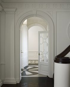 Geometric Door, Traditional, entrance/foyer, Andrew Skurman Architects