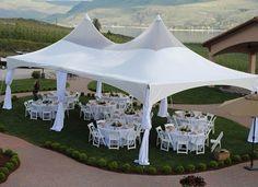 20x40' High Peak Tent Wedding