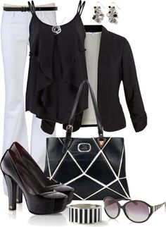 """""""Black and White"""" by averbeek on Polyvore"""