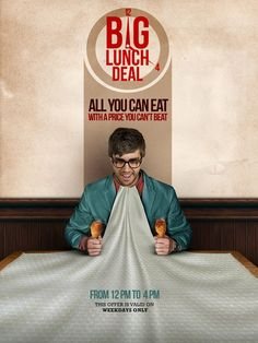 Big Lunch Deal Teaser Campaign by Mohamed Nabarawy, via Behance