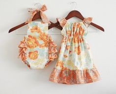 TWO piece Matching Sibling SET - Big sister Flutter Dress and Little sister Sunsuit / Heirloom, via Etsy. Tie Onesie, Sweet Girls, Baby Girls, Newborn Pictures, Matching Outfits, Little Sisters, Siblings, My Girl, Summer Outfits