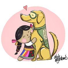 Fuerza México!  Mucha fuerza mucha fe mucho amor mucha ayuda mucho cariño mucho mucho mucho México. Ilustración por @atolemagallanes