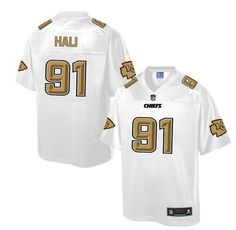Men's Nike Kansas City Chiefs #91 Tamba Hali Game White Pro Line Fashion NFL Jersey