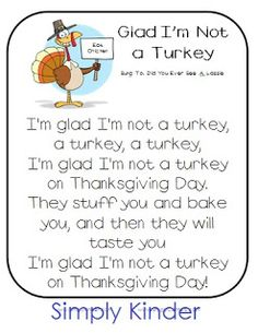 Simply Kinder: Thanksgiving Poem Freebies