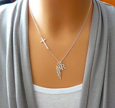 Hey, I found this really awesome Etsy listing at https://www.etsy.com/listing/201844366/personalized-angel-wing-necklace