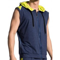 Olaf Benz Hoody Vest RED1710 Night-Lime (T5115) Athleisure, Sweat It Out, Hoody, Keep Warm, Olaf, Mens Sweatshirts, Benz, Lime, Night